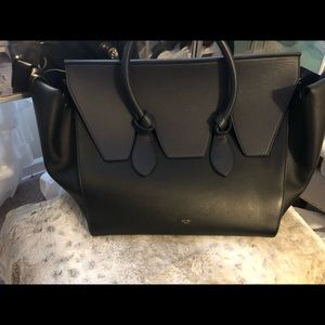 Authentic Celine Leather Tie Knot Tote (Large)